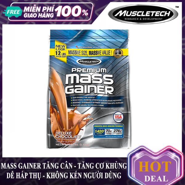 Sữa tăng cân tăng cơ Premium Mass Gainer của Muscle Tech bịch lớn 5.4 kg hỗ trợ tăng cân, tăng cơ nạc nhanh cho người tập GYM và chơi thể thao, dễ hấp thu, không kén người dùng - thuc pham chuc nang