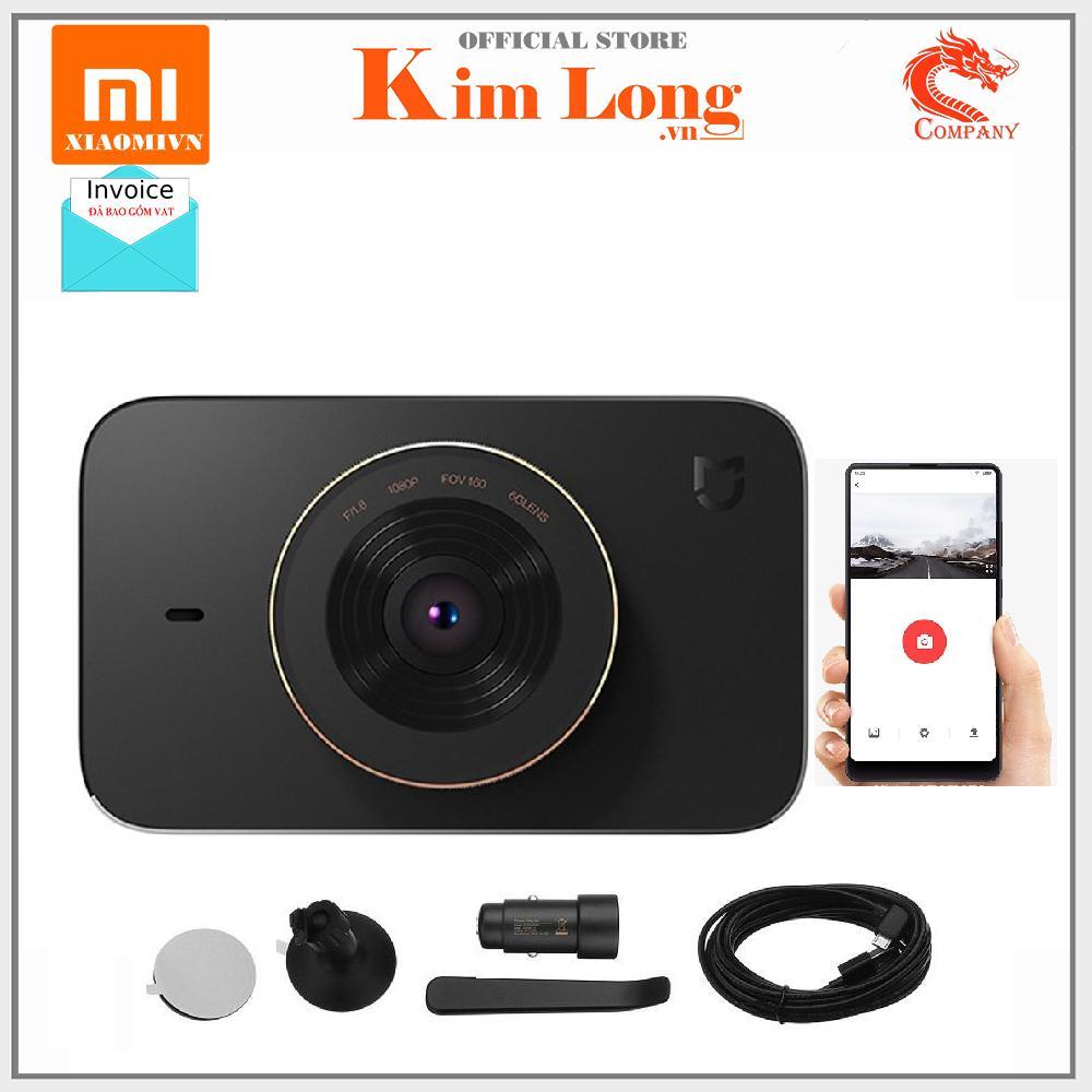 Camera hành trình Xiaomi Dashcam 1080P Cảm biến Sony IMX322 khẩu độ f/1.8, góc rộng 160° Kết nối Wifi, Bluetooth 4.0 - Hàng Digiworld - Bảo hành 12 tháng
