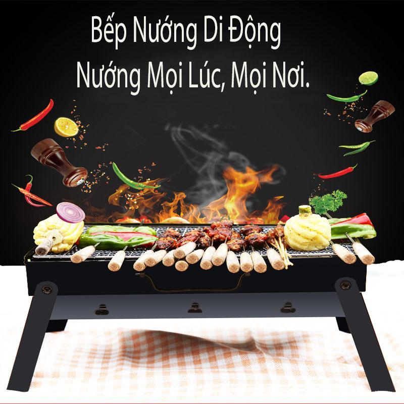 Bếp Nướng Di Động, Bếp Nướng Than Hoa Vuông BBQ Cao Cấp,  Không Khói, An Toàn,Tiện Lợi. Phân Phối & Bảo Hành tại Futue Box. Chọn Mua Ngay.