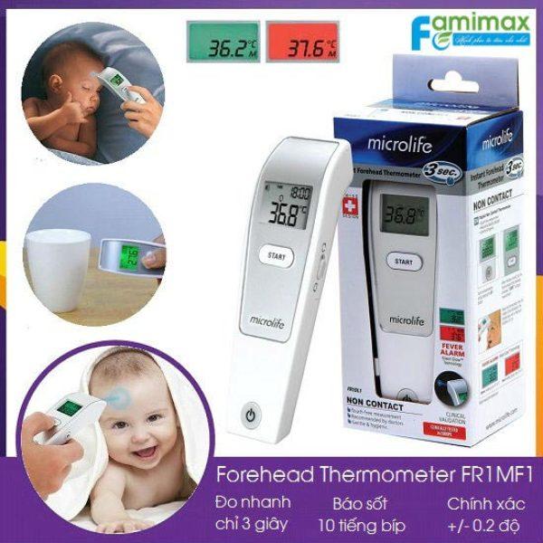 Nhiệt kế hồng ngoại đo trán Microlife FR1MF1 Thụy Sĩ ( Bảo Hành 24 Tháng ).Nhiệt Kế Điện Tử Đo Trán.Nhiệt Kế đo trán cho kết quả chính xác . bán chạy