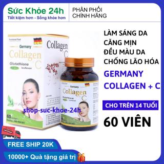 Viên uống đẹp da Collagen +C giảm thâm nám tàn nhang, ngừa nếp nhăn, chống lão hóa - Hộp 60 viên thumbnail