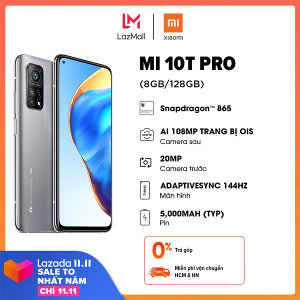 Điện thoại Xiaomi Mi 10T Pro 8GB/128GB - Chip Qualcomm Snapdragon 865 RAM 8GB Màn hình 144Hz Dung lượng pin 5,000mAH Sạc nhanh 33W  Bảo hành chính hãng 18 tháng Trả góp 0%