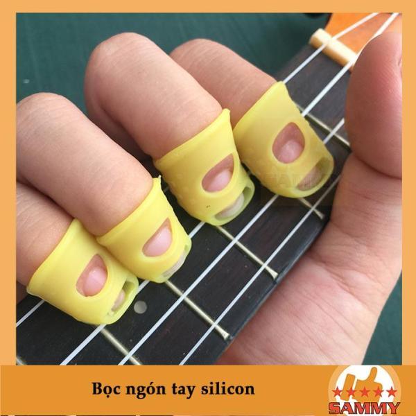 Phụ kiện bọc đầu ngón tay chơi Guitar 1 bộ gồm 4 cái cho 4 ngón giúp bảo vệ ngón tay, giảm đau, nhức khi phải luyện tập nhiều - Ukulele