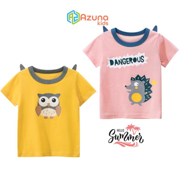 Giá bán Áo thun bé gái 27Home áo cộc cho bé in hình thú cưng cute chất cotton hàng nhập khẩu
