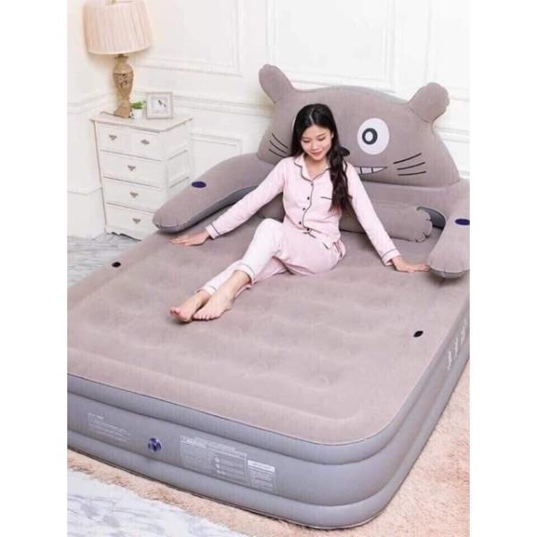 Giường hơi hình thú cao cấp ( tặng kèm bơm điện , keo và 2 miếng vá)
