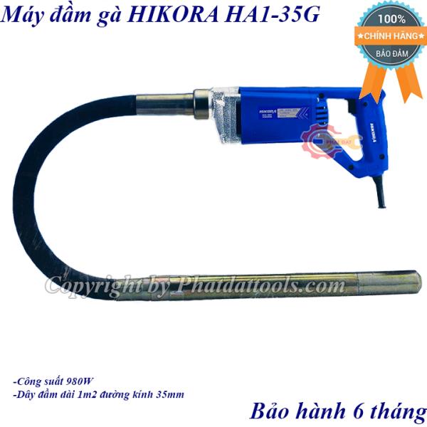 Máy đầm dùi betong cầm tay HIKORA HA1-35G-Máy đầm gà cầm tay-Chính hãng-Gồm dây 120cm