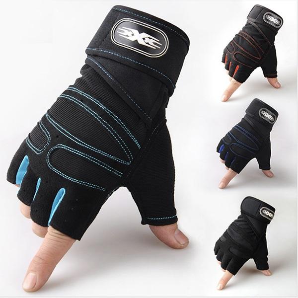 Găng tay tập gym có quấn bảo vệ cổ tay - Tặng Găng tay chống nắng Hàn Quốc
