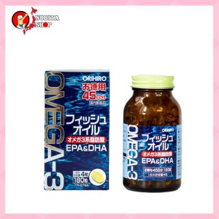 Viên Uống Dầu Cá Omega 3 Orihiro 180 Viên Phát Triển Não Bộ, Tăng Cường Trí Nhớ thumbnail