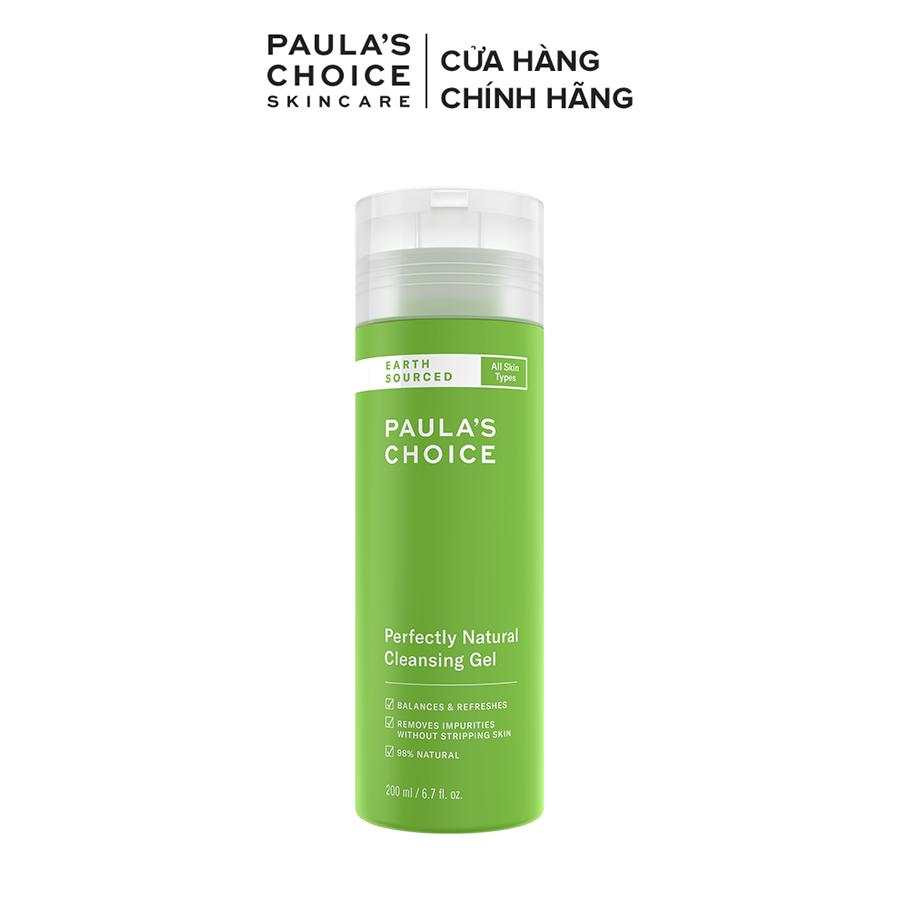 Sữa rửa mặt nhẹ nhàng chiết xuất từ thiên nhiên Paula's Choice Perfectly Natural Cleansing Gel 200ml