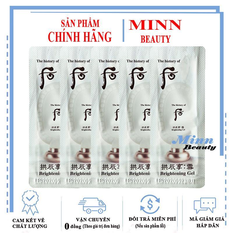 Combo 5 Sample Tẩy Tế Bào Chết Sáng Da The History Of Whoo Brightening Peeling Gel 1ml x 5 tốt nhất