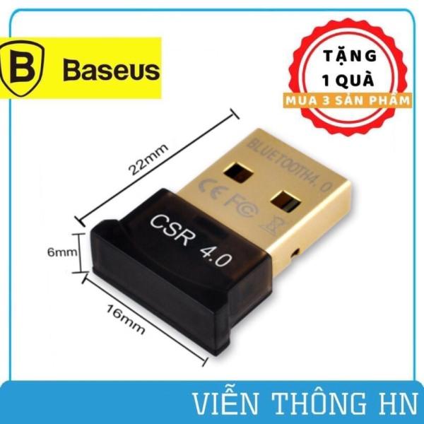 Bảng giá USB bluetooth baseus 4.0 CSR hỗ trợ Aptx dùng cho máy tính để bàn hoặc laptop không cần chạy dirver - vienthonghn Phong Vũ