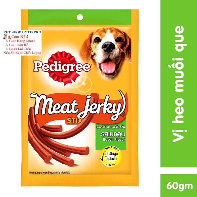 THỨC ĂN VẶT CHO CHÓ Pedigree Meat Ferky Vị thịt heo muối dạng que Gói 60g Xuất xứ Thái Lan