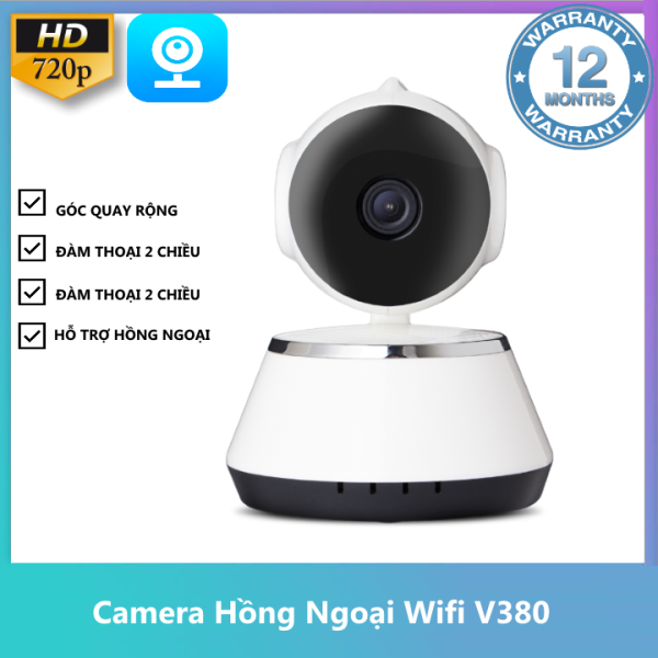 Camera IP Wifi Trong Nhà Xoay 360 độ V380 Đàm Thoại 2 Chiều (BH 12 Tháng)