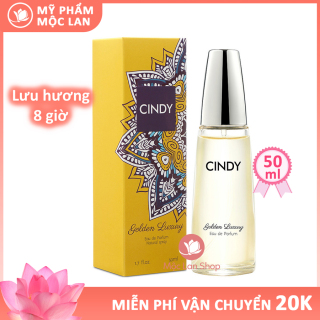 Nước hoa nữ thơm lâu quyến rũ, nước hoa Cindy Golden Luxury 50ml lưu hương lâu- Mỹ phẩm Mộc Lan thumbnail