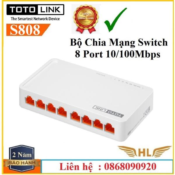 Bảng giá Bộ Chia Mạng 8 Cổng Totolink S808 , Totolink S505 Tốc Độ 100Mbps - Hàng Chính Hãng Phong Vũ
