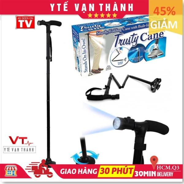 ✅ Gậy 1 Chân Có Đèn Pin: Gấp Gọn Trusty Cane Chống Trượt - [Y Tế Vạn Thành] - Mã SP: VT0540
