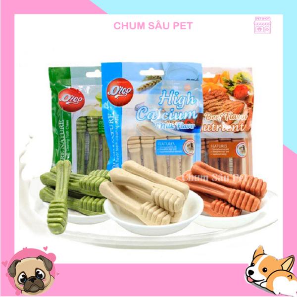 Xương Bàn Chải Gặm Sạch Răng Thơm Miệng Orgo - Bánh Thưởng Cho Chó - Gói 90gr 6 Chiếc
