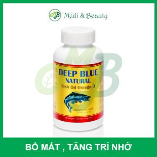 [ CHÍNH HÃNG ] TPCN Bổ mắt , tăng trí nhớ DEEPBLUE NATURAL FISH OIL OMEGA 3 - CHAI 100 viên thumbnail