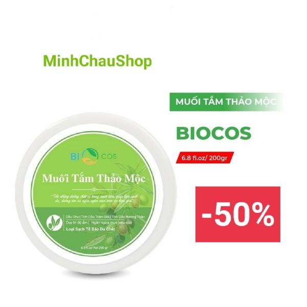 Muối tắm thảo mộc Biocos, ngăn ngừa viêm chân lông, mụn nhọt, rôm sảy, viêm da, nấm đầu