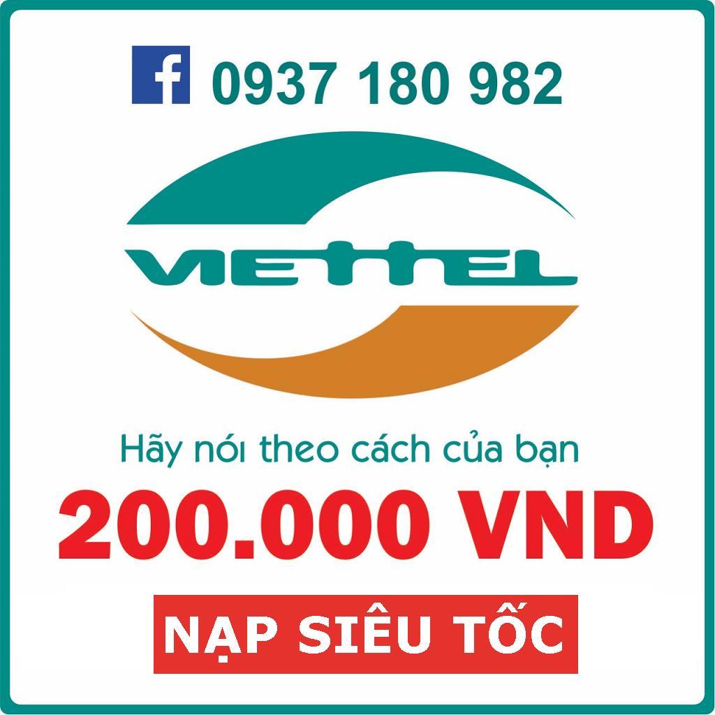 Coupon Ưu Đãi Nạp Trực Tiếp Viettel_Trả Sau 200K