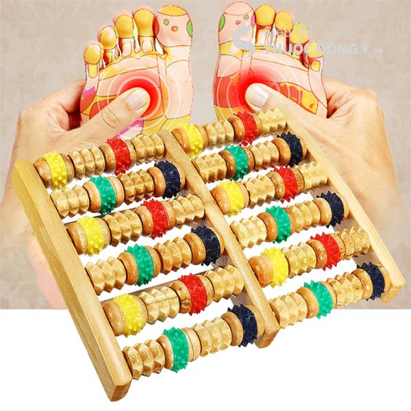 Dụng Cụ Massage Bàn Chân Bằng Gỗ 6 Hàng nhập khẩu