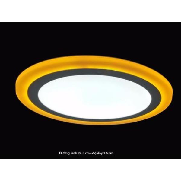 Bảng giá Đèn led ốp trần đổi màu Vàng 24w TRÒN 3 chế độ
