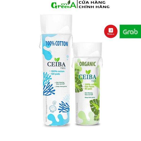 Bông Tẩy Trang Ceiba 100% Cotton Hữu Cơ Tự Phân Hủy Sinh Học Không Để Lại Sợi Ceiba Tree 80 Miếng