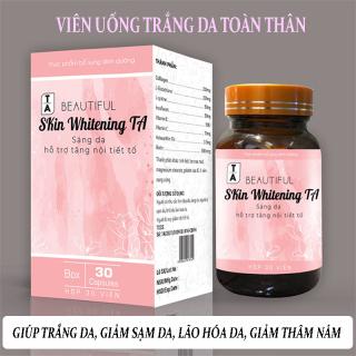 Viên Uống Trắng Da Toàn Thân Skin Whitening TA Hỗ trợ làm giảm quá trình lão hóa da, hết nám da, tàn nhanh, hỗ trợ tăng nội tiết tố giúp da sáng mịn trắng hồng rạng rỡ. dp tg pharma thumbnail