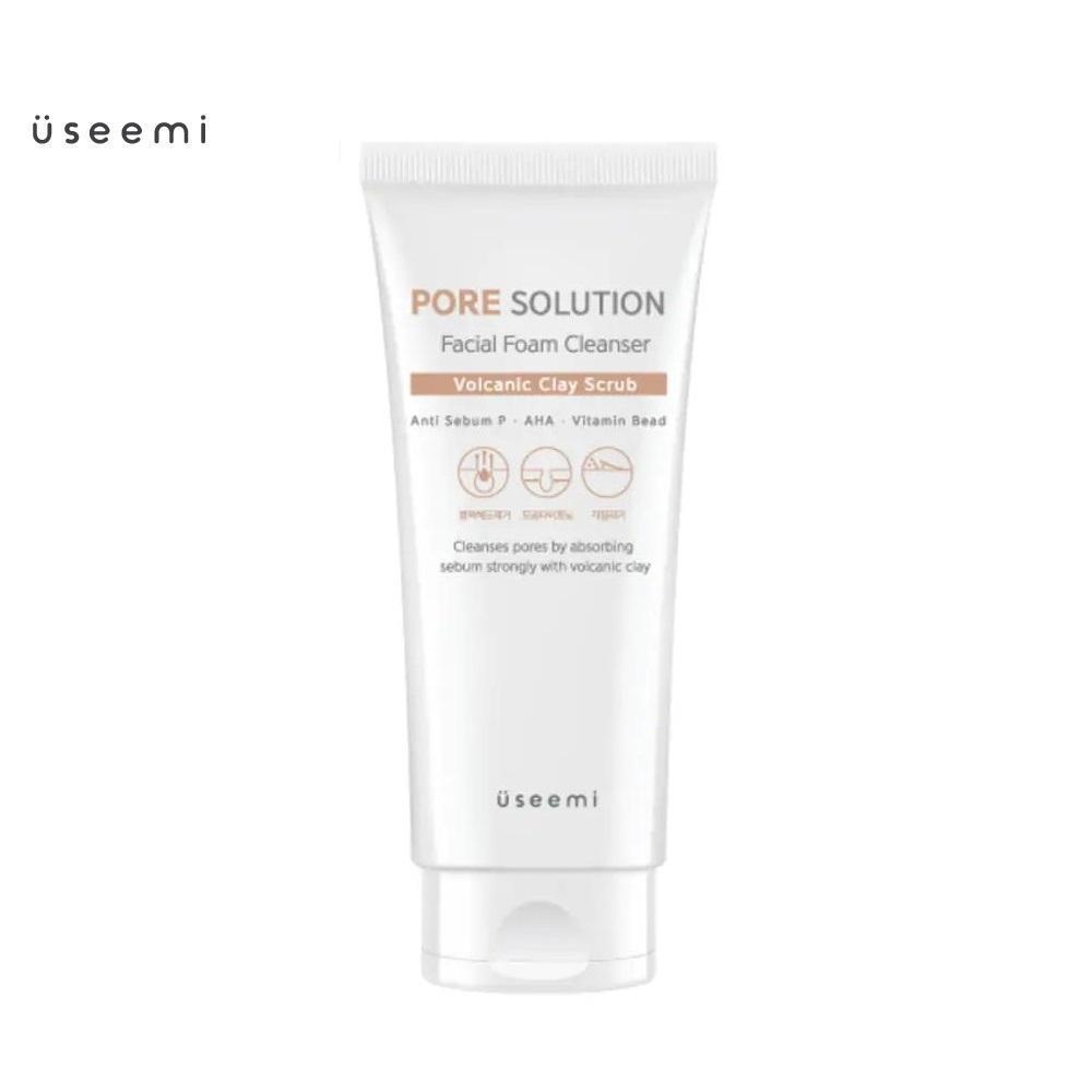 Sữa rửa mặt tạo bọt chiết xuất tro núi lửa Useemi Pore Solution Facial Foam Cleanser 150ml. Sữa rửa mặt Useemi làm sạch sâu mọi bụi bẩn, lớp trang điểm, bã nhờn, không gây khô da. Sữa rửa mặt Useemi chính hãng Hàn Quốc, chất lượng cao