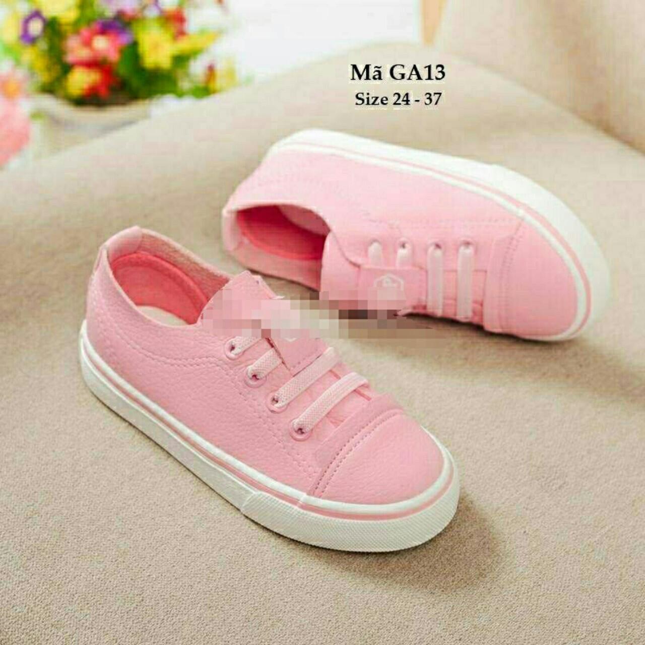 Giày thể thao bé gái màu hồng xinh xinh êm mềm nhẹ