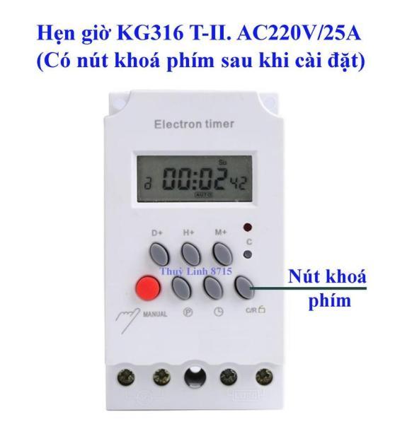 Bảng giá Công tắc hẹn giờ KG316 T-II/ 25A /220V có khóa phím, timer hẹn giờ, ổ cắm hẹn giờ, công tắc điện hẹn giờ, công tắc hẹn giờ bật tắt điện tự động