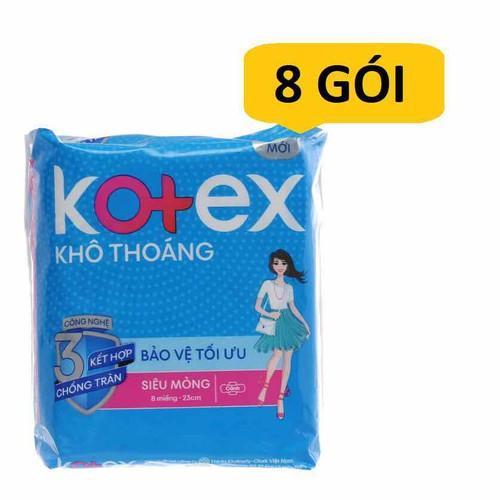 Combo 8 gói Băng vệ sinh Kotex Style lưới siêu thấm có cánh 8 miếng