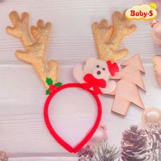 Băng đô cài tóc Noel sừng tuần lộc lấp lánh size lớn đủ màu sắc phối gấu tuyết trắng đáng yêu nổi bật Baby-S SNOEL013 thumbnail