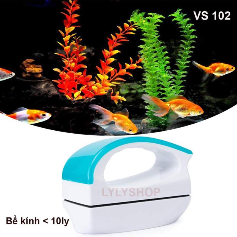 Cọ Bể Nam Châm Mini VIPSUN 102 cỡ vừa - Chà Rêu Bám Trên Kính Hồ Cá