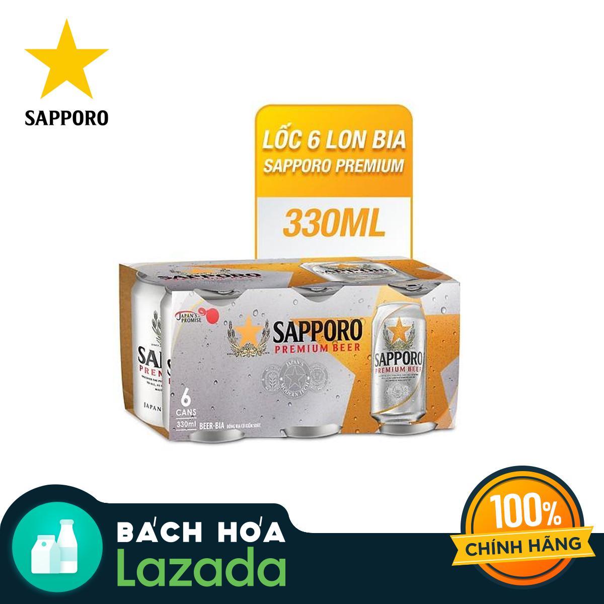 Lốc 6 Lon Bia Sapporo Premium (6 Lon X 330ml) Giá Tốt Không Nên Bỏ Qua