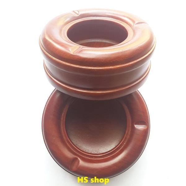 02 Gạt tàn thuốc gỗ hương đỏ (Gia công nguyên khối, 13cm x 5cm) -Độc đáo, Lịch sự, đẹp cổ điển -NPP HS shop