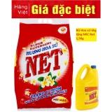 Giá Bán 1 Tặng 1 Bột Giặt Net Hoa Sứ 6Kg Tặng Nước Rửa Chen 1 5Kg Netco Vietnam