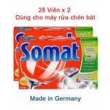 2 Vien Rửa Somat Hộp 28V Nk Đức Cho May Rửa Chen Bat Trong Vietnam