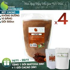 Giá Bán 4 Goi 2Kg Cacao Nguyen Chất 100 Light Cacao Mới