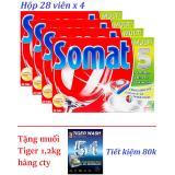 Mã Khuyến Mại 4 Hộp Somat 5 28 Vien Nk Đức Tặng 1 2Kg Muối Tiger Cho May Rửa Chen Bat