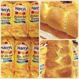 Bánh mì hoa cúc Harrys Brioche Tressee ( 515g) Pháp