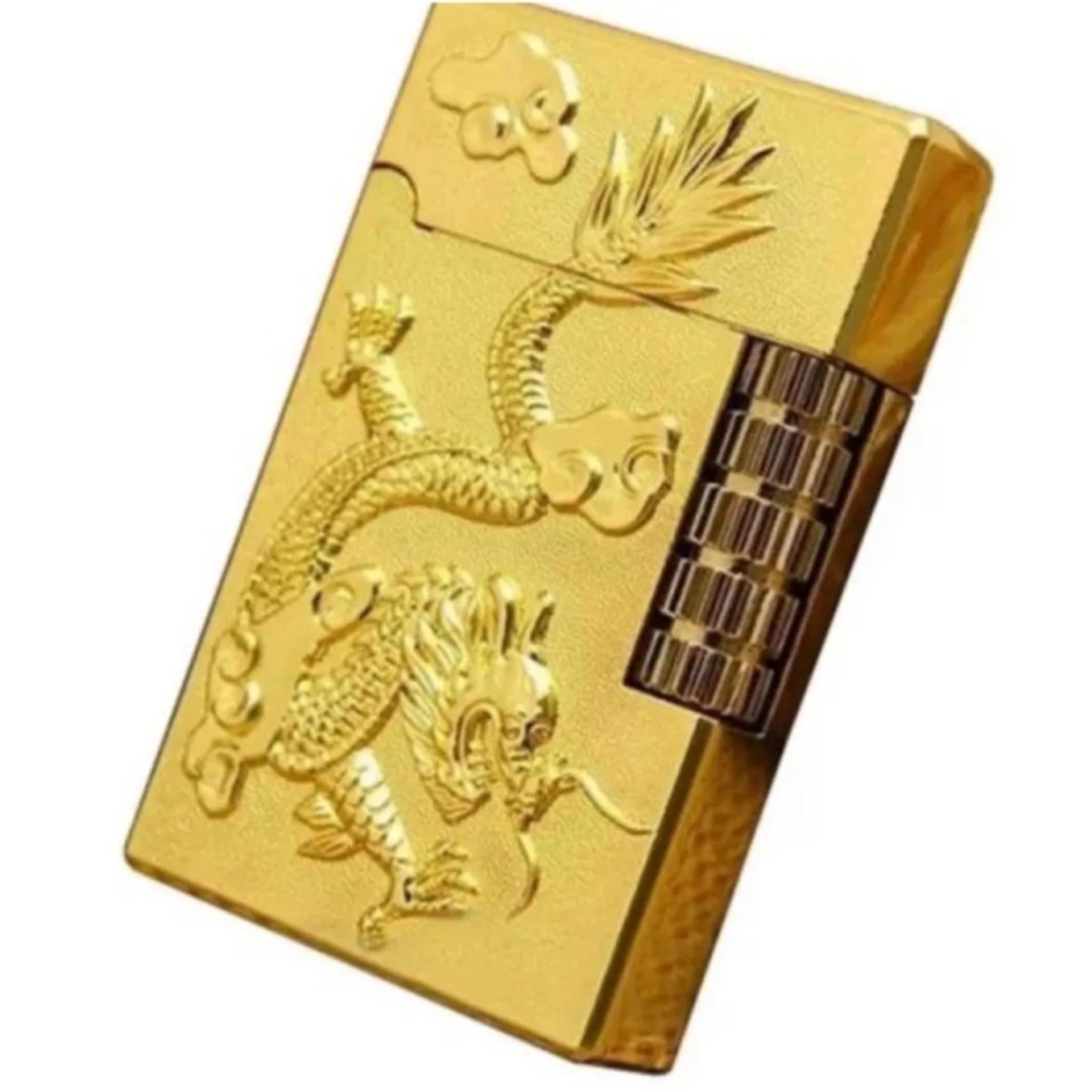 Bật Lửa Khắc Rồng Nổi Ct094 (Vàng)