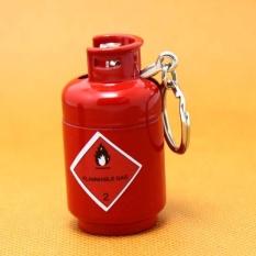 Bật lửa mô hình Bình Ga kiêm móc khóa độc lạ (Đỏ)