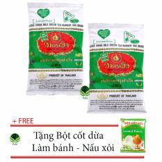 Mua Bộ 02 Bột Tra Thai Xanh Pha Tra Sữa 200G Tặng Bột Cốt Dừa Lam Banh Nấu Xoi None Nguyên