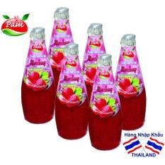 Giá Bán Bộ 06 Chai Nước Dau Tay Với Hạt Basil Seed Khong Ngon Chung Toi Hoan Tiền Mới
