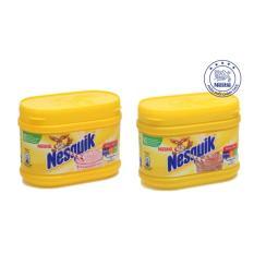 Ôn Tập Trên Bộ 2 Bột Pha Sữa Nestle Nesquik Hương Dau Va Hương So Co La 300G Hộp
