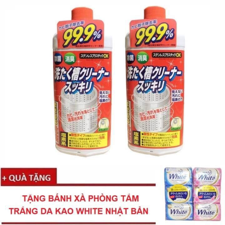 Bộ 2 chai Dung dịch vệ sinh lồng máy giặt...