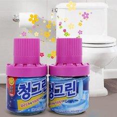 Hình ảnh Bộ 2 Chai sáp thơm Hàn Quốc thả bồn cầu khử mùi, diệt khuẩn