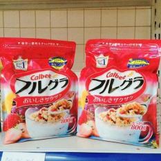 Bộ 2 gói Ngũ cốc Calbee Nhật Bản 800g hàng chuẩn Nhật date mới nhất