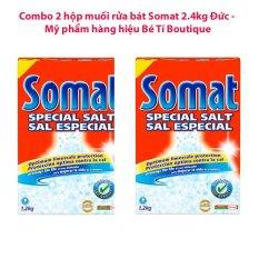 Mã Khuyến Mại Bộ 2 Hộp Muối Rửa Bat Somat 2 4 Kg Somat Mới Nhất